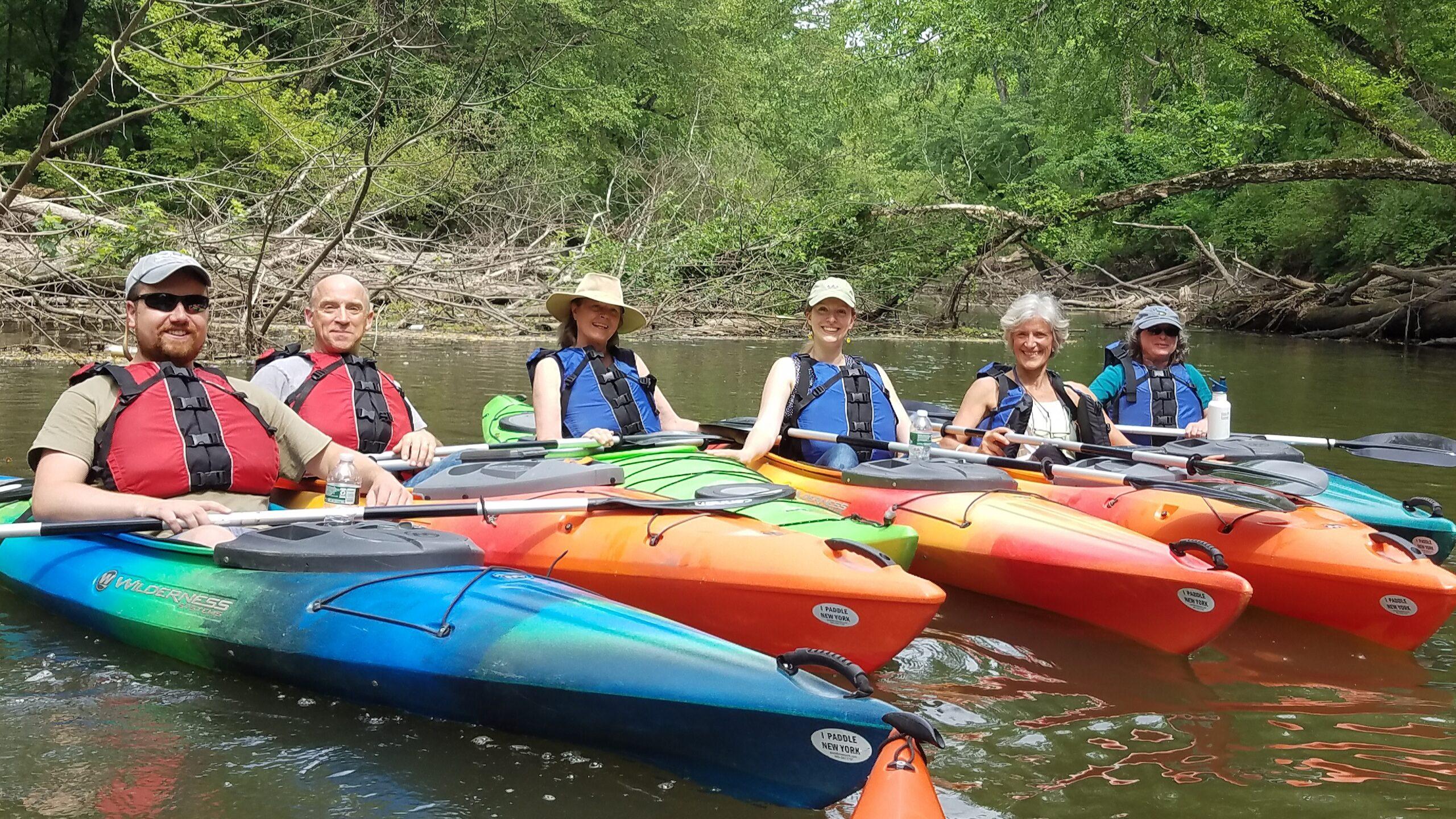 Watershed group members in kayaks